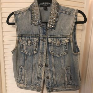 Studded Denim Vest from Forever21.